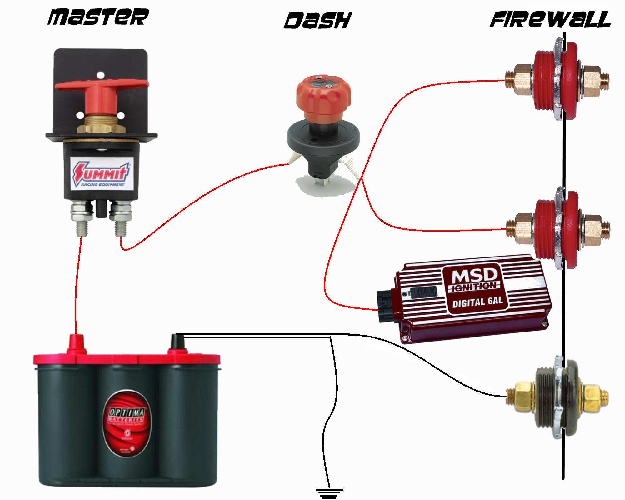 how to wire a car battery kill switch