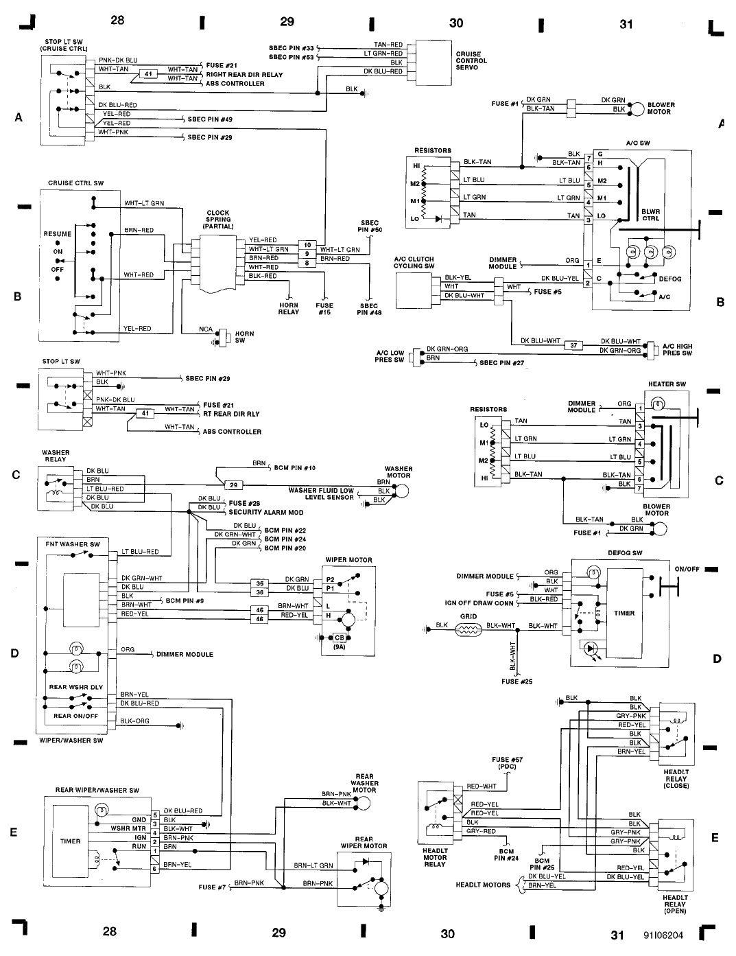 1991 Chrysler Lebaron Wiring Diagram Real 94 Isuzu Impulse Pickup 1994 1990