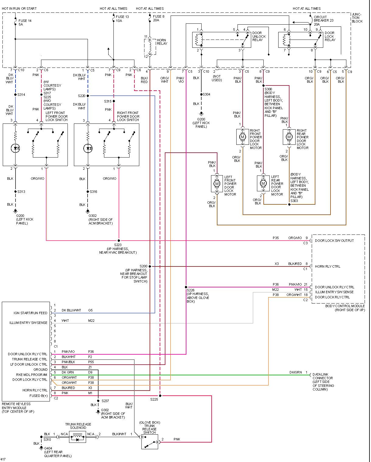 Concord wiring diagram keyless entry