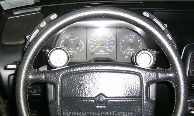 Guage pic from driving position