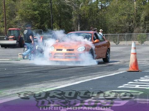 Smokin the slicks at Carolina Dragway