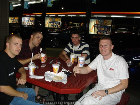 Left to right - Cole, Dan, Trevor, Me at Sonic