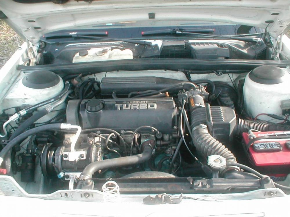 Pictures of my LeBaron engine compartment