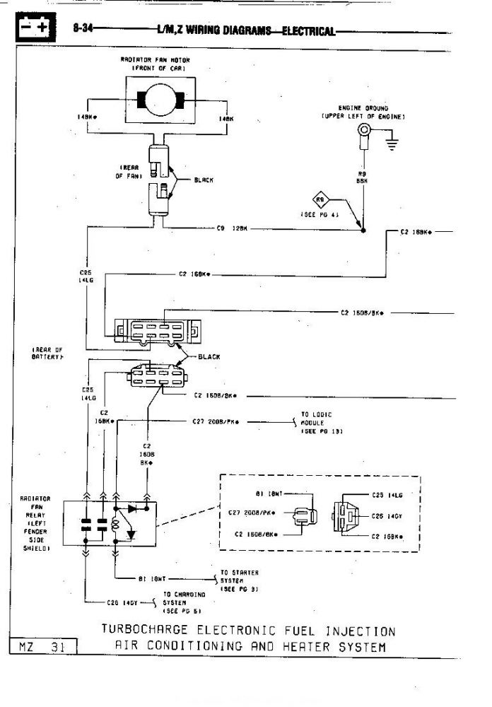 85 GLH Turbo Cooling System Wiring page 1