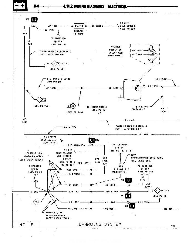 85 GLH Turbo Charging System Wiring page 1