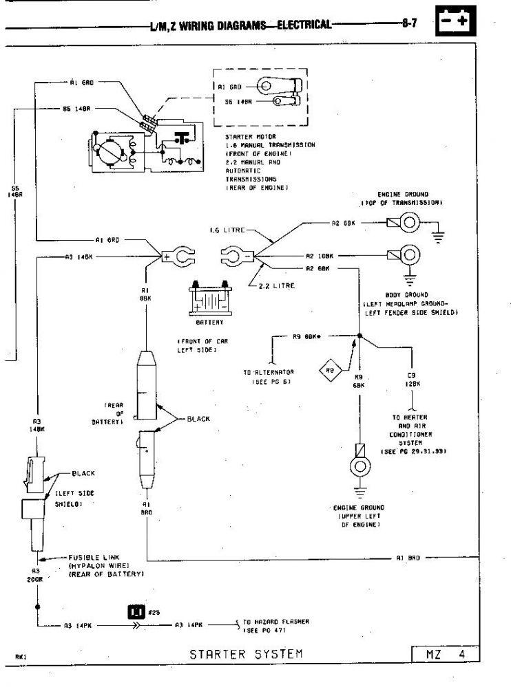 85 GLH Turbo Starter Wiring 2