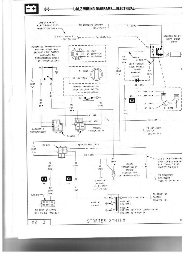 85 GLH Turbo Starter Wiring 1