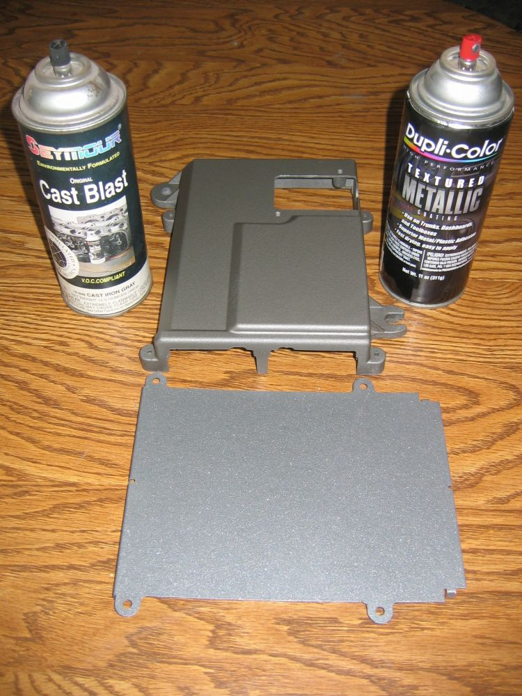 Covers and backing plate with spray products used to restore them.