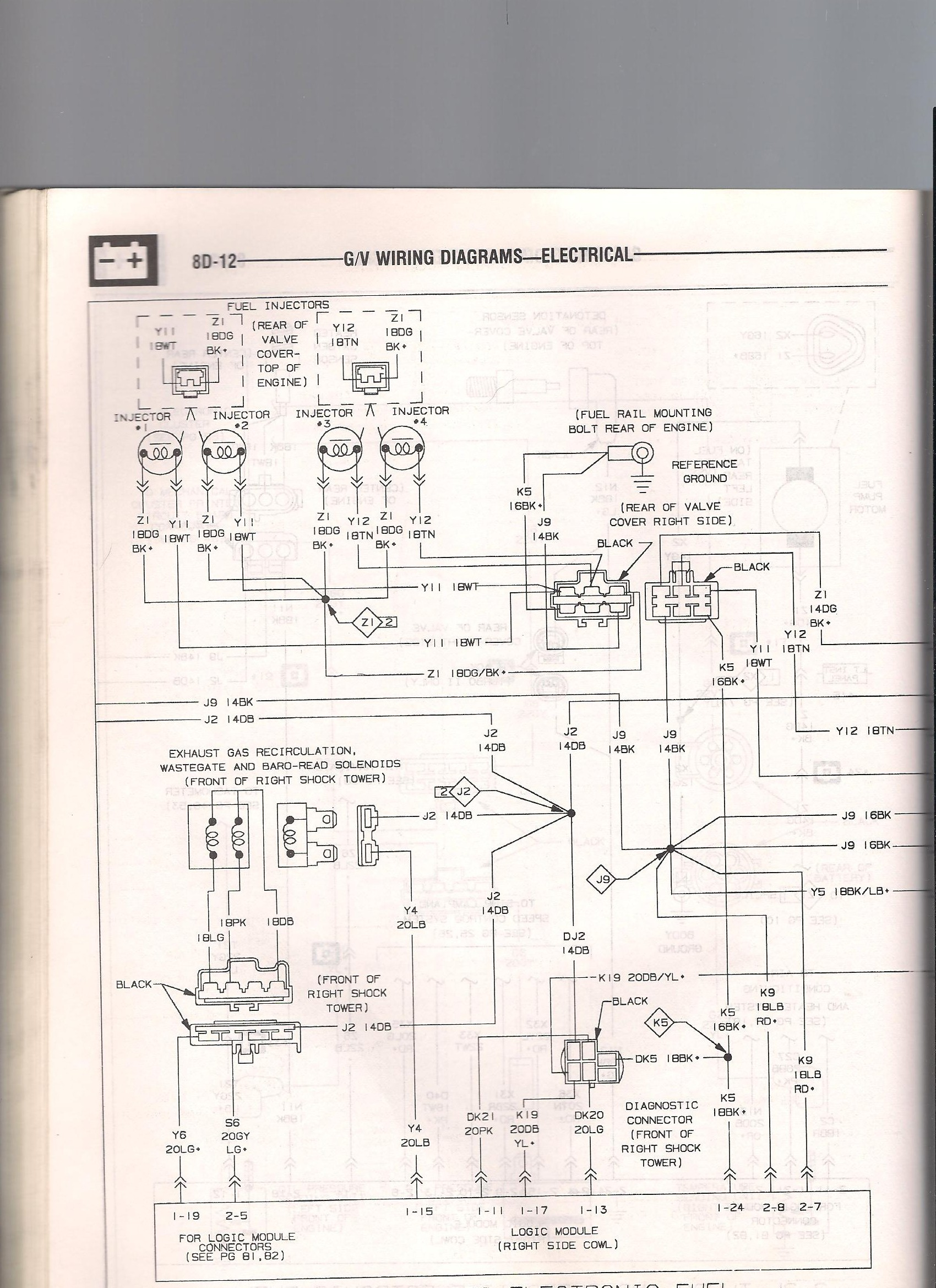 Wiring Diagram 1985 Dodge Shelby Charger Electrical Diagrams 1989 Dakota Overcharging 2000